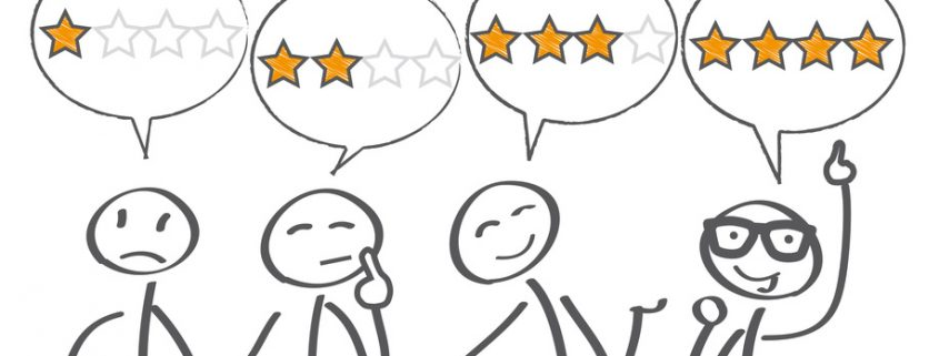4 customer rankings are shown, from 1 star to 4 stars