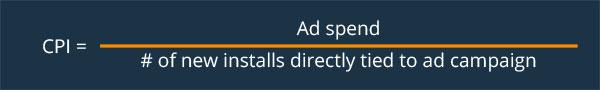 Cost per install - User Acquisition
