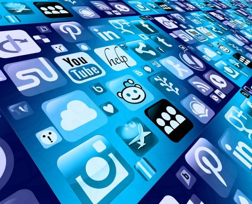 Eine Menge an Icons mobiler Apps